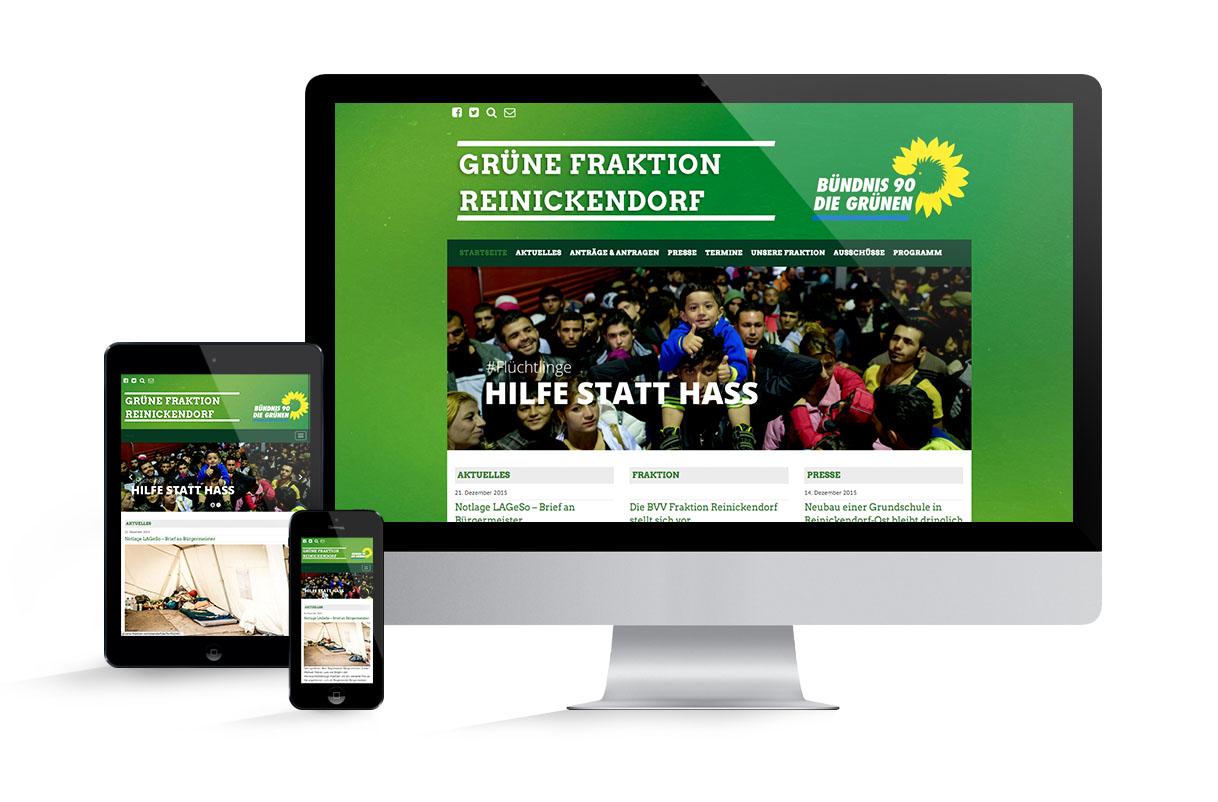 Grüne Fraktion Reinickendorf Screenshot Webseite